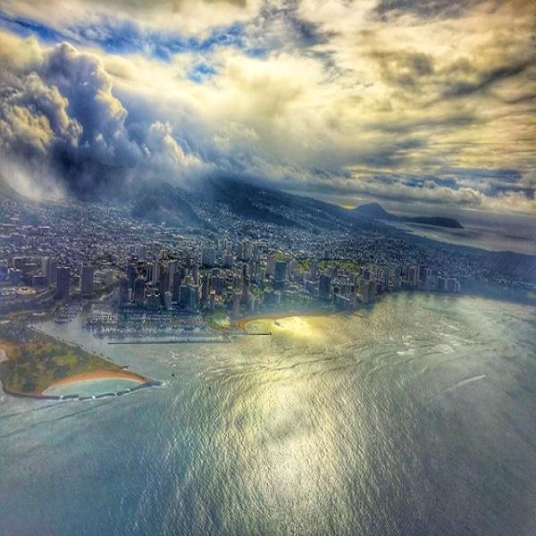 [하와이 현지투어] 와이키키 선셋풍경 헬기투어(20분) 이미지