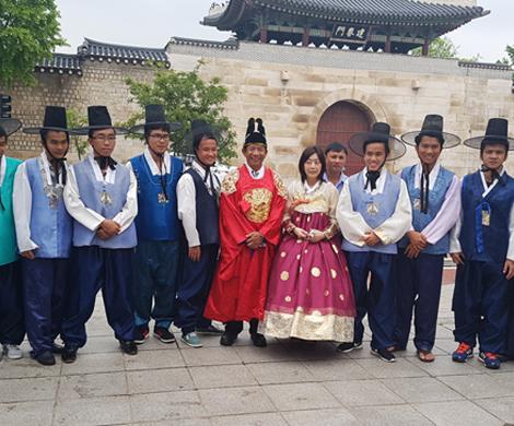 전통문화체험 (한복입기+김밥만들기)  이미지