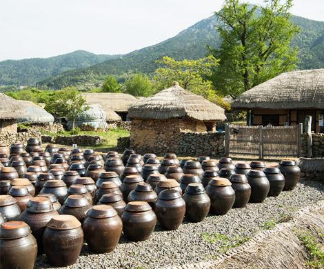 Seong-eup folk village (trying honey tea or omija tea)