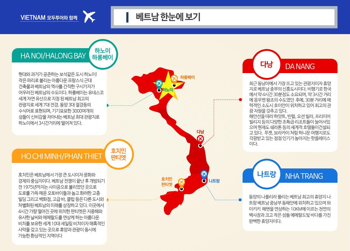 [지도] 베트남 한눈에 보기